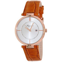 Kenneth Cole KC2802 Women's New York Silver Dial Orange Leather Band Watch