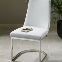 Uttermost Xantina White Accent Chair