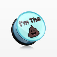 zzz-A Pair of 'I'm the S#!T' Single Flared Ear Gauge Plug
