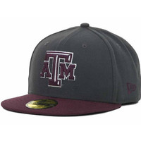 Texas A&M Aggies NCAA 2 Tone Graphite and Team Color 59FIFTY Cap