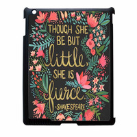 Little And Fierce On Charcoal iPad 3 Case