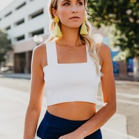 Eminence Ribbed Top - White