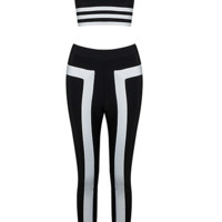 Bila Black and White Pant Set