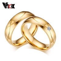 Vnox Cute Cubic Zirconia Stainless Steel For Lovers Cr-062