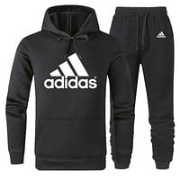 A ADIDAS new men and women models wild sports and leisure two-piece Black