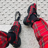 Nike Air Max Plus Black-red mesh air cushion Retro Running Shoes