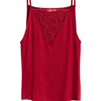 Top with Lace Detail - from H&M