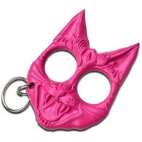 Defense Kitty Key Chain- Pink