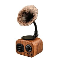 Retro Wood Portable Mini Bluetooth Speaker Wireless Loudspeaker