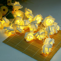 Novelty Rose Flower Fairy String Lights Wedding Garden Party Christmas Decoration Nighlight