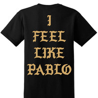 I feel like Pablo Kanye West The Life of Pablo Pop Up Store New York T-shirt tshirt tee