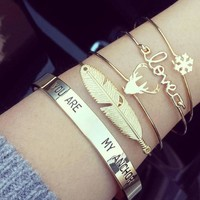 NS38 Vintage Gold Color Tie Knot Bracelet Bangles Simple Twist Cuff Open Bangles For Women Indian Jewelry Costume Jewellery 2018