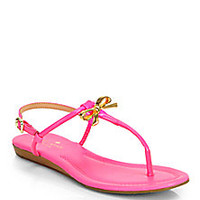 Kate Spade New York - Tracie Patent Leather Thong Sandals - Saks Fifth Avenue Mobile