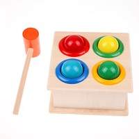 Colorful Kids Baby Toys Hammering Wooden Toy Hammer Ball Box Children Early Learning Educational Puzzle Toys For Children