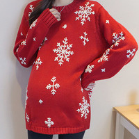 Plus Size Sweater High Quality Stylish Christmas Pregnant Handcrafts Bottoming Shirt [9503684356]