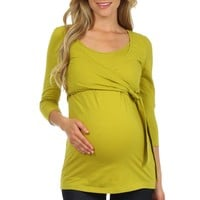 Fashionable Wrap and Tie Nursing Top