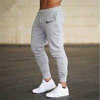 2018 Brand casual pencil trousers Gyms Men Joggers Sweatpants Men Joggers Trousers Sporting The high quality Bodybuilding Pants