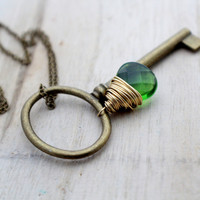 Large Skeleton Key Necklace