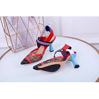 Fendi Fashion Trending Leather Women High Heels Shoes Women Sandals Heel