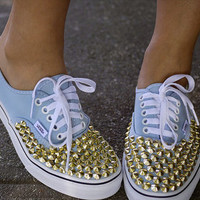 WEEKEND SALE Gold/Silver studded vans