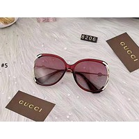 GUCCI 2019 new large frame driving anti-UV color film sunglasses #5