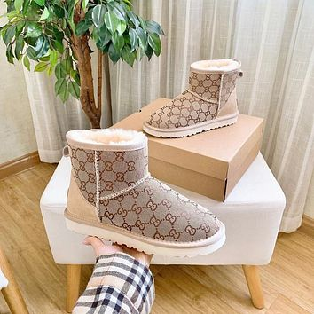 UGG GUCCI 2020 Male / female / child branded short boots