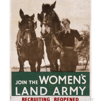 Women's Land Army Poster Giclee Print at Art.com