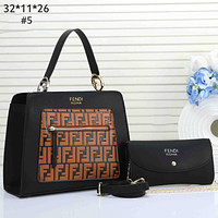 Fendi Tide brand shopping bag female models wild fashion single shoulder diagonal package two-piece #5