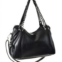 Purse Babe Large Women's Glamour Soft Chain Strap Hobo Bag F77-Synthetic Leather