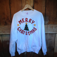 Vintage Christmas Sweatshirt, XL