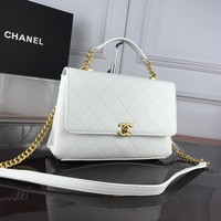 Chane Double C silver and gold on Chain Chane vintage jumbo Leather Neverfull Tote Handbag Shoulder Bag Shopping Bags Purse Wallet S