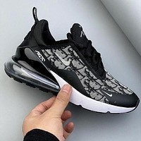 Dior x Nike Air Max 270 React X Dior Half Palm Air Cushion Breathable Cushioning Running Shoes