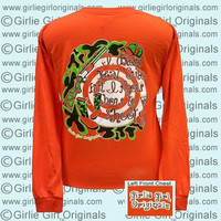 Girlie Girl Originals Dress Cute Know How to Shoot Hunt Long Sleeve Bright T Shirt