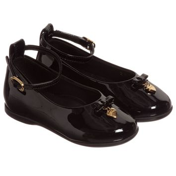 Girls Black Patent Leather Shoes