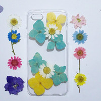 iPhone 6s case clear, iPhone 6 Case Clear, Flower iPhone 6 Case,flower iPhone 6s Case, iPhone 6s Plus Case, pressed flower iphone case