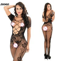 Hot women sexy body stockings sexy Hollow jacquard intimates sexy lingerie net long stocking lingerie Girl Gifts