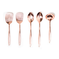 Heritage 5-Piece Utensil Set in Copper