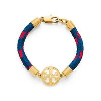 Tory Burch Logo Disc Rope Bracelet