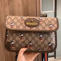 GUCCI x Disney joint double G presbyopia tiger head canvas waist bag shoulder bag crossbody bag