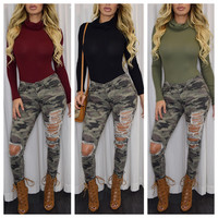 All :: Tops :: All Tops :: Gina Turtle Neck Body Suit