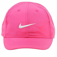 Nike Toddler Girl's Embroidered Swoosh Pink Pow Cotton Baseball Cap 2/4T
