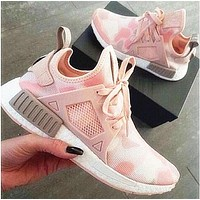 """Adidas"" Fashion Trending NMD Women Pink Camouflage Running Sports Shoes G"