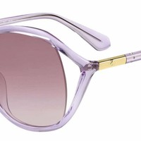 Kate Spade - Mackenna S Violet Sunglasses / Smoke Gradient Lenses