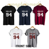 Cameron Dallas Shirt Dallas 94 Date of Birth Front Side Unisex Tshirt