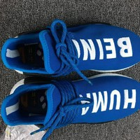 Adidas NMD X Human Race Pharrell Williams Blue White PW Human Being BB0618
