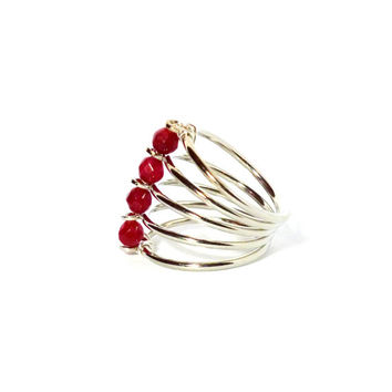 Red Multiple Layer Ring