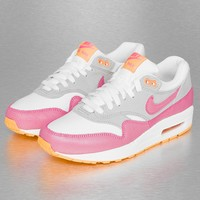 Nike Air Max 1 Essential Sneakers White/Pink Glow/Wolf Grey/Atomic Mango von Def-Shop.com