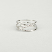 Sealed With a Twist Silver Ring