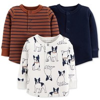 Carter's Baby Boys 3-Pack Printed Shirts Kids - Shirts & Tees - Macy's