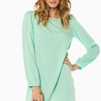 MIDDLEWAY SHIFT DRESS IN MINT